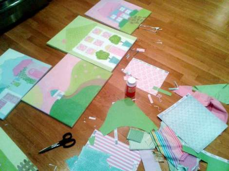 Sissy paintings fabric paper update dry fit