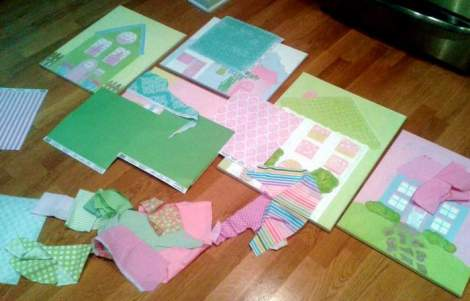 Sissy paintings fabric paper update mess