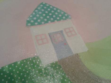 Sissy paintings fabric paper update mod podge