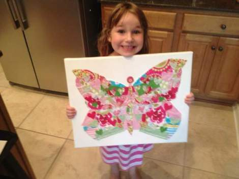 02 fabric scrap butterfly art