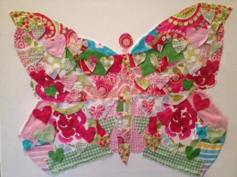 03 fabric scrap butterfly art