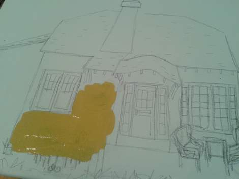 05 cottage painting in progress