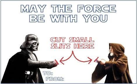 Star Wars Valentine DIY hack – Star Wars Valentine Cards