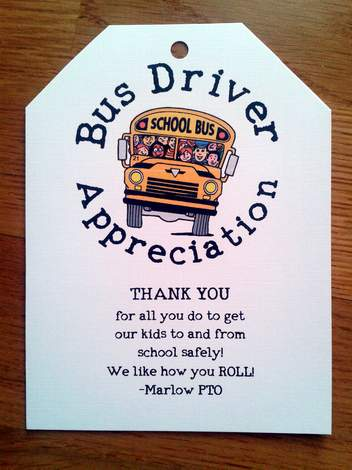 picture about Bus Driver Thank You Card Printable identify Its Bus Driver Appreciation 7 days! exhibit some enjoy CampClem