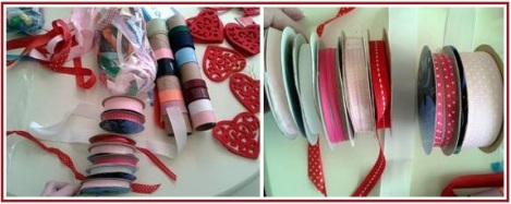 felt heart bunting ribbon