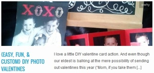 LINK {easy, fun, & custom} DIY Photo Valentines