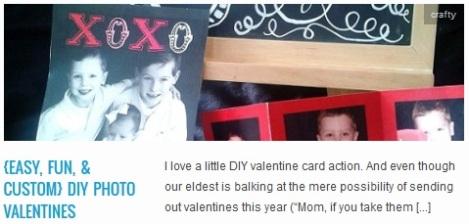 LINK {easy, fun, & custom} DIY Photo Valentines