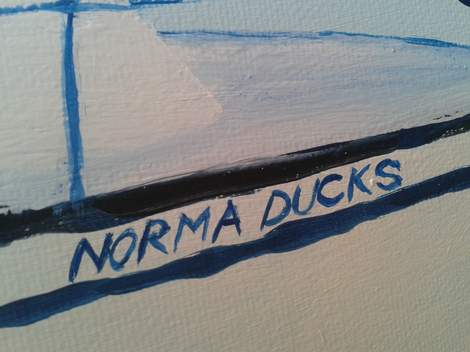 Norma Ducks painting detail