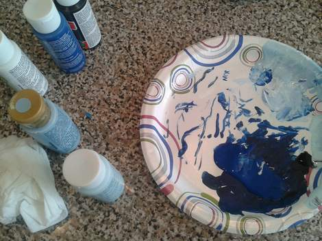 Norma Ducks painting paint palette
