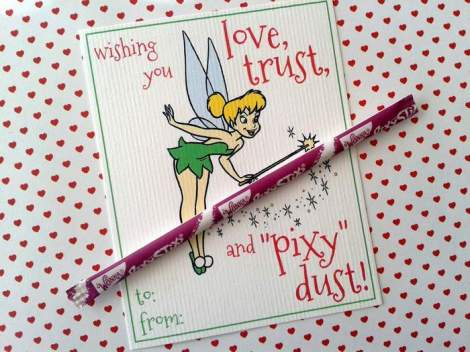 tinkerbell valentines tape on