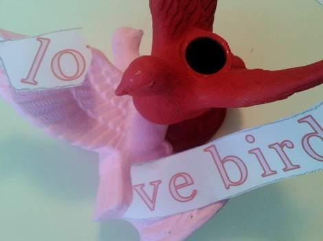 001 He Is Risen bird banner