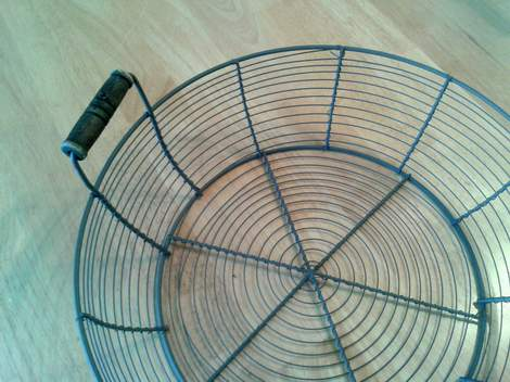 01 fabric woven wire basket