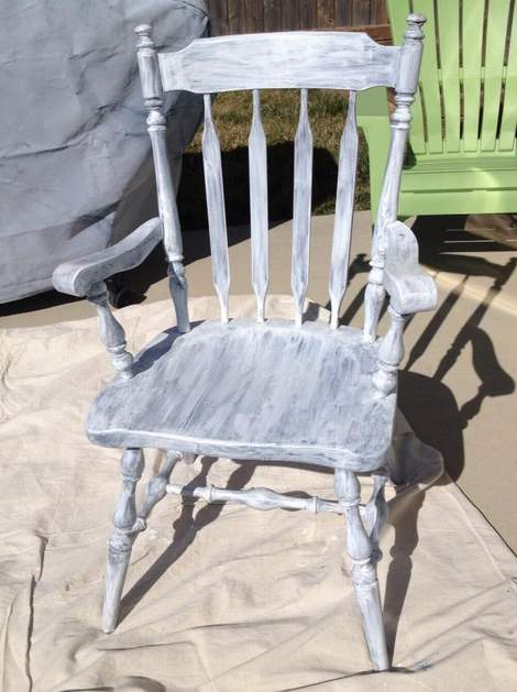 04 aqua distressed chair