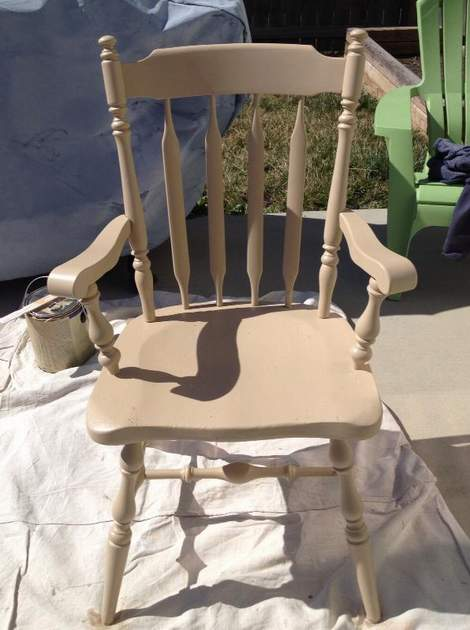 05 aqua distressed chair