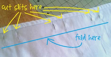 05 tablecloth curtains button hols cut