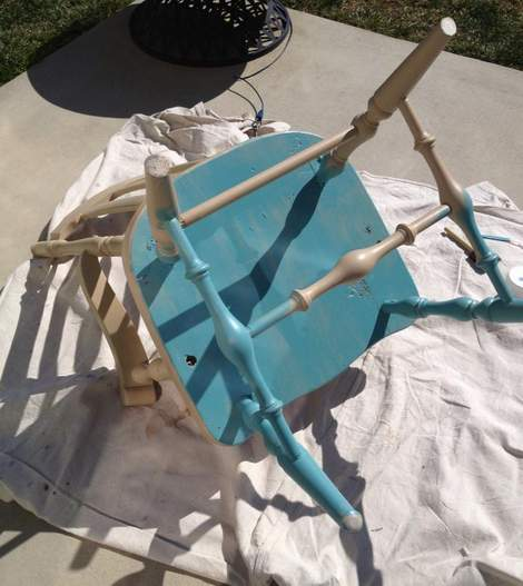 06 aqua distressed chair