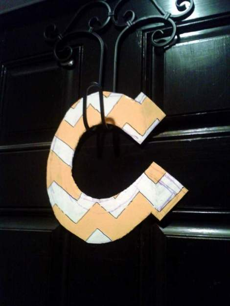 06 chevron initial wreath