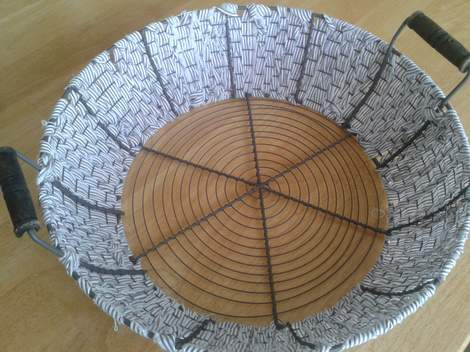 07 fabric woven wire basket