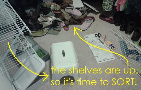 08 shoe closet time to sort