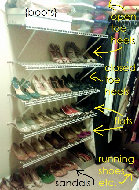12 shoe closet refining placement'