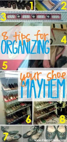 eight tips for organizing your shoe mayhem