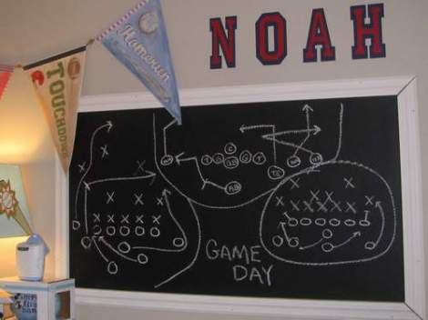 football room chalkboard