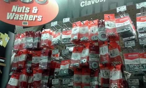 hex nut bracelet hardware store