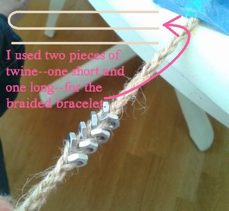 hex nut bracelets braided