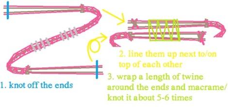 hex nut bracelets closure macrame