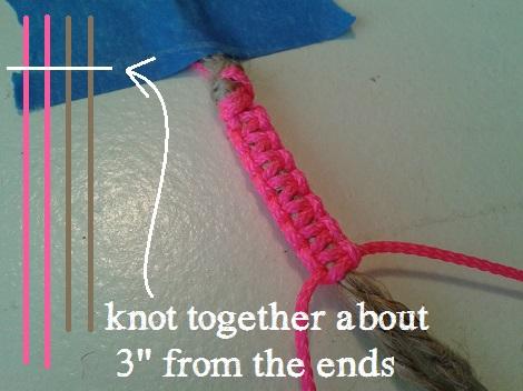 hex nut bracelets macrame