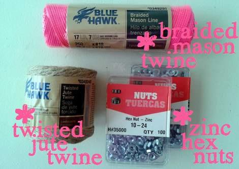 hex nut bracelets supplies
