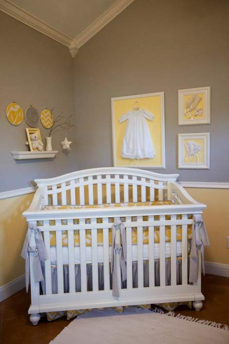 Lavender yellow nursery : Yellow and gray baby nursery ideas