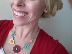11 enameled necklace