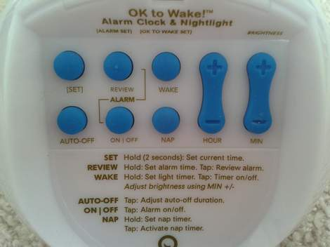 ok to wake clock back setting buttons