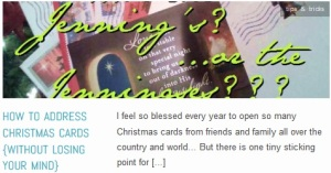 LINK How To Address Christmas Cards {without losing your mind}