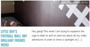 LINK Little Boy's Football Wall {my brilliant friends week}