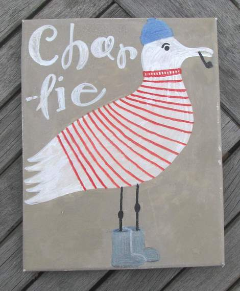 seagull painting charlie