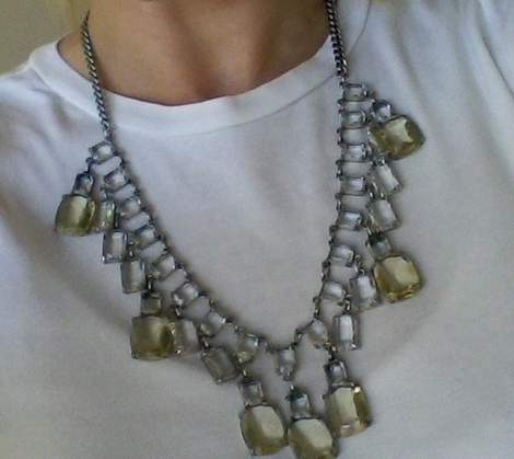 01 glass and silver necklace makeover