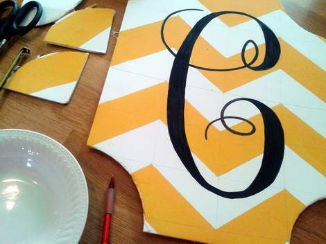 04 yellow chevron initial wreath update curves cut