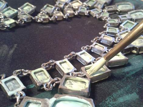 05 glass and silver necklace makeover