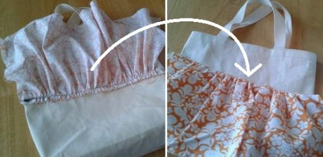 06 add ruffles to tote first row sewn