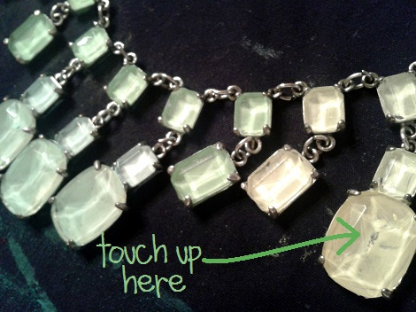 06 glass and silver necklace makeover