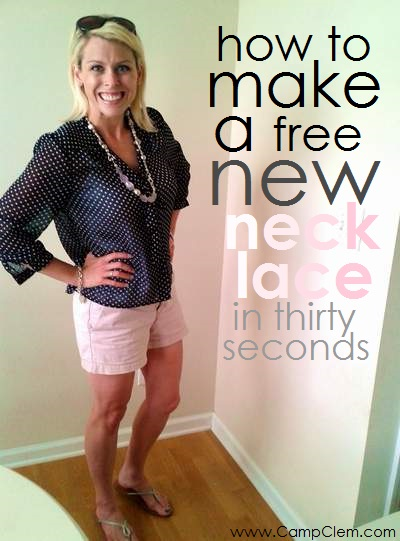 how to make a free new necklace in thirty seconds