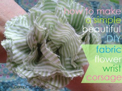 how to make a simple, beautiful, DIY fabric flower wrist corsage