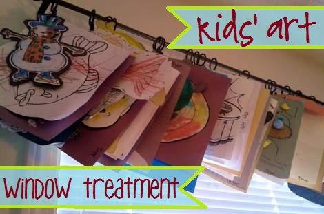 kids art window treatment 1'