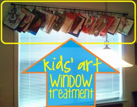 kids art window treatment 2'