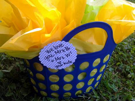 preschool class gift basket