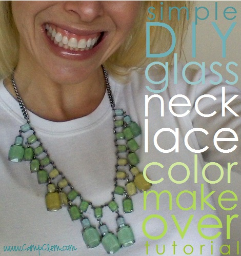 simple DIY glass necklace makeover tutorial