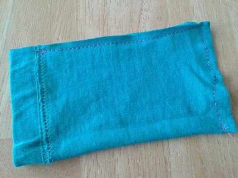04 sleeve to pouch simple  upcycle tutorial