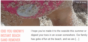 LINK {did you know} Instant Beach Sand Remover